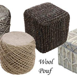 Wool Poufs